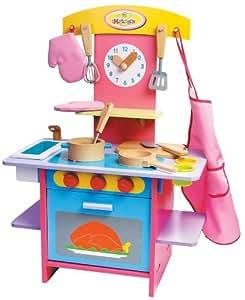 Deluxe wooden kitchen playset toys games for Kitchen set toys amazon