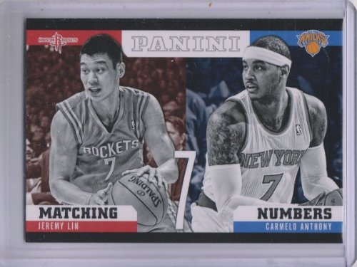 2012-13 Panini Matching Numbers #23 Carmelo Anthony Jeremy Lin Basketball Card