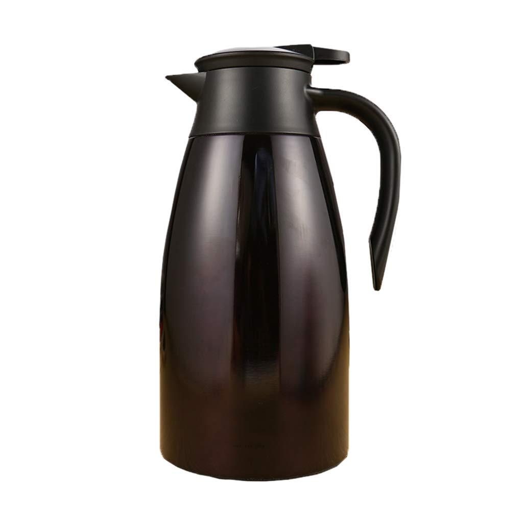 FYCZ Thermoskannen, 304 Edelstahl 2L Doppelwandige Vakuumisolierte Kaffeekanne Kaffee Plunger Juice Isolation Reisebecher B2