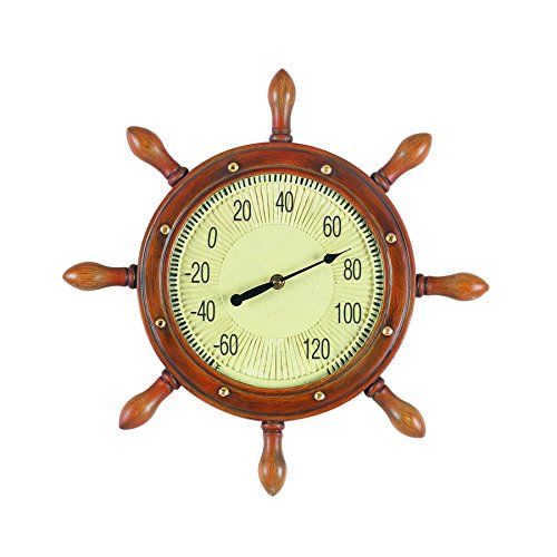 (RAM Gameroom Products Outdoor Decor Captain's Wheel Fahrenheit)