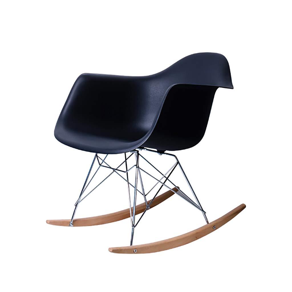 椅子 ラウンジチェア、ロッキングチェア、ナチュラルリクライニングバルコニーナップチェア、ソリッドウッド、レイジーカジュアルエスケープチェア、5色 (色 : B) B07L77H13R B B