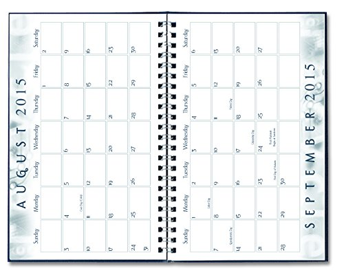 House of Doolittle 2015 - 2016 Academic Year Weekly Planner Assignment Book, Black Cover, 5 x 8 Inches (HOD27502-16) Photo #11