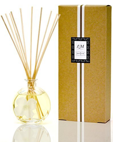 L&M Naturals Gardenia Diffuser - All in a Pretty Round Glass~ Made with Essential Oils~