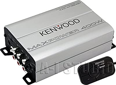 Kenwood Compact Automotive/Marine Amplifier - 180 W RMS - 400 W PMPO - 4 Channel - Class D KAC-M1824BT from Kenwood