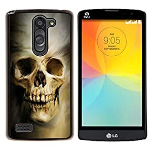 LECELL--Funda protectora / Cubierta / Piel For LG L Bello L Prime -- Cráneo gótico Evil --