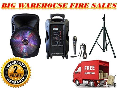 Why Choose Mr Dj Pro 15 3000W Bluetooth PA DJ FM Radio Karaoke Speaker Microphone, Stand
