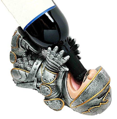 (Royal Knight Suit of Armor Wine Guzzler Holder Kitchen Decor Resin Figurine)