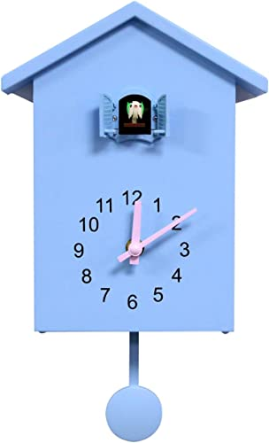 Simple Design Cuckoo Clock Bracket Clock Wall Clock Blue