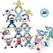 JIUBAR Wooden Stacking Games, Hercules Acrobatic Troupe Interlock Toys, Balancing Blocks Games Toddler Educati