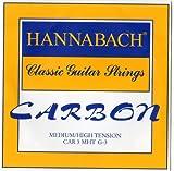 Hannabach Strings for classic guitar CARBON Medium/High tension Discant G3 single string