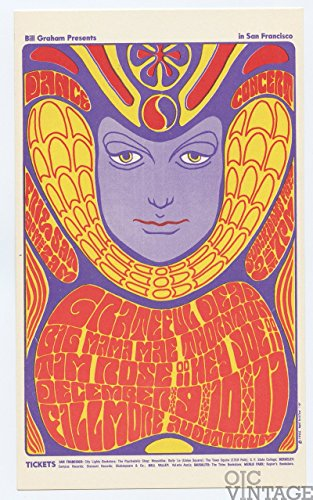 Bill Graham 41 Postcard Grateful Dead Big Mama Thornton 1966 Dec 9