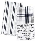 Hotel Plaid 2PK K Navy Kitchen Towel, 20 x 28, 2 Piece