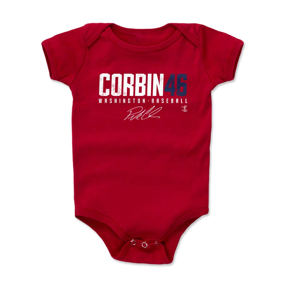 Patrick Corbin Elite 3-24 Months 500 LEVEL Patrick Corbin Washington Baseball Baby Clothes /& Onesie