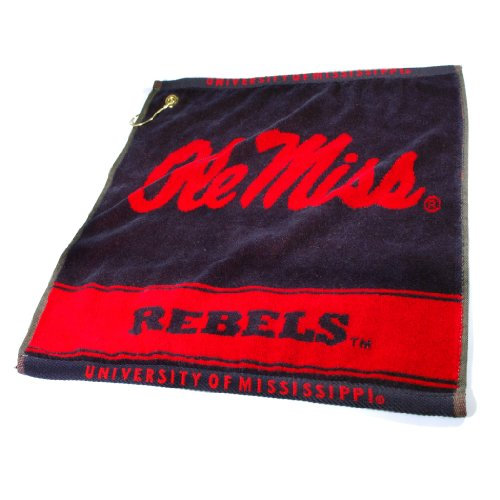 - NCAA Mississippi Rebels Deluxe Woven Golf Towel