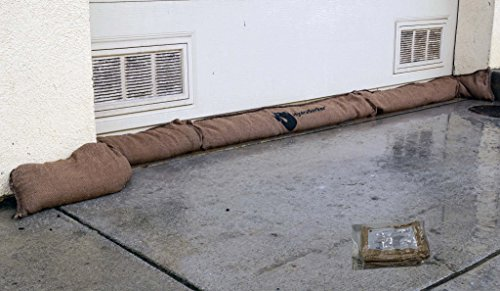 HydraSorber - Sandless Sandbags - Water Absorbent Flood Barrier - 11ft Long X 8in Wide - Single Unit ()