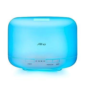 Aroma Diffuser Aiho 500ml Aromatherapie Diffuser, Cool Mist  Luftbefeuchter,Wasserlos Auto Abschaltung, 7