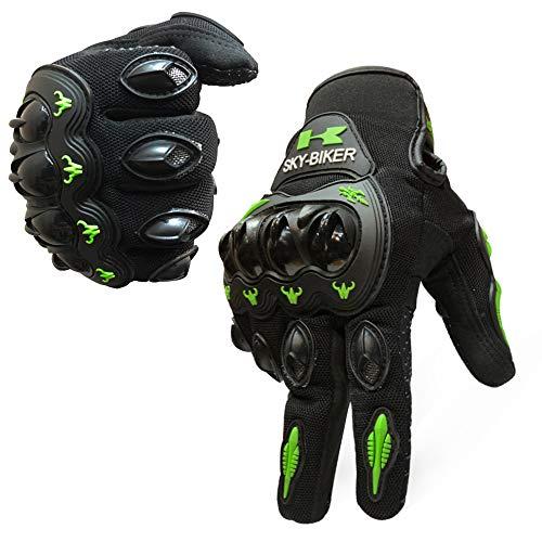 - Motorcycle Carbon Fiber Motorbike Full Finger Gloves Men Orange, ATV Men Youth Motocross Street Gloves Waterproof Breathable Non-Slip,Reinforced Knuckle Shell Shock-Resistant Breathable Gloves.