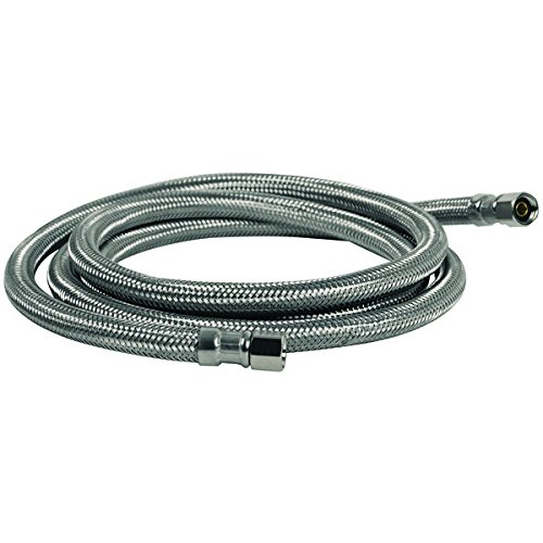 Certified Appliance IM72SS Ice Maker Connector, 6' (Stainless Steel Ice Hose Maker)