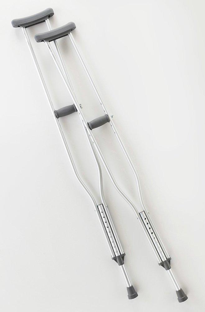 Cardinal Health CA901TL, Axillary Crutch, Tall, Height 70-78 in., Adjustable, Supports 300 lbs.