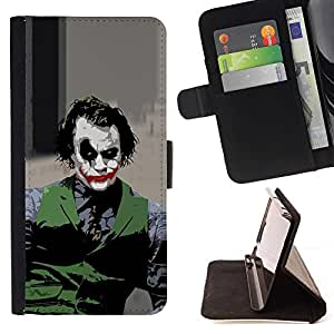 For Samsung Galaxy Note 3 III Evil Joker Style PU Leather Case Wallet Flip Stand Flap Closure Cover