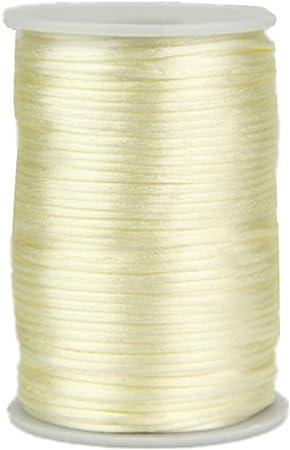 2mm X 100 Yard Rattail Satin Nylon Trim Cord Chinese Knot Gold