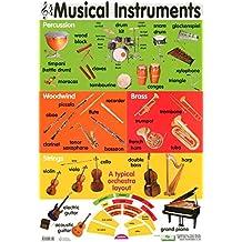 Musical Instruments Educational Children's Chart Mini Poster 40x60cm