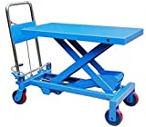 150kg Mobile Scissor Lift Hydraulic Lifting Platform Table Trolley Cart Truck