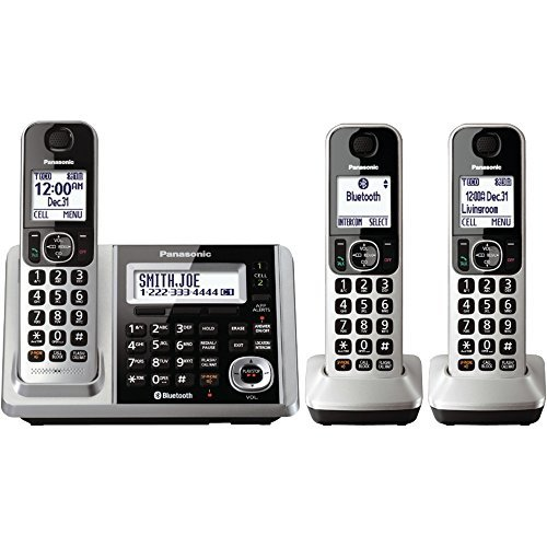 Three 3 Expandable Handset (PANASONIC KX-TGF373S DECT 6.0 1.9GHz Link2Cell(R) Expandable Digital Cordless Phone System with Answer System (3 Handsets) electronic consumer)