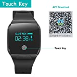Willful-Waterproof-Fitness-Tracker-Watch-Bluetooth-Smart-Wristband-with-HD-Large-Touch-ScreenSleep-MonitorMusic-Camera-ControlCall-Text-PushSwimming-Bicycle-Tracker-for-IOS-Android-Phones-Black
