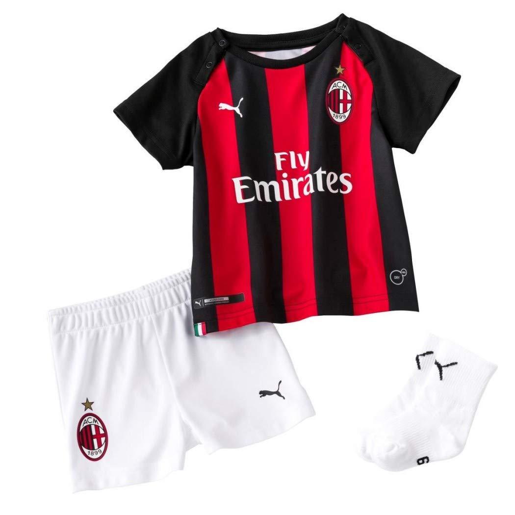Puma Kinder Trikot Fu/ßballtrikot Football Shirt Puma AC Milan HOME BABY-Kit with Sponsor Logo with SOCKS with HAN Football Shirt Teamsport FOOTBALL Unisex 754441/_06-tango red-Puma Black-80