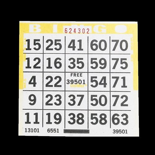 1on Bingo Paper Cards (500) (yellow) American Games
