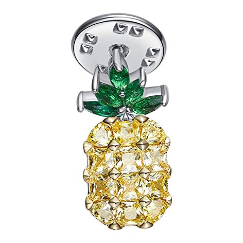 Aokarry Jewelry Women Alloy Brooch Pin Pineapple Brooches Yellow