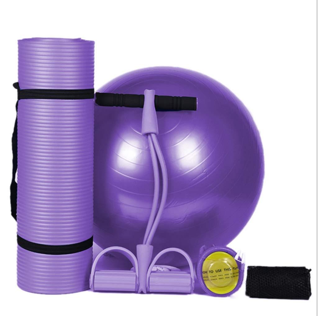Yoga Matte XINGUANG Anfänger Lila Dreiteilige Fitness Produkte Body Shaping Fitness Unisex Matte