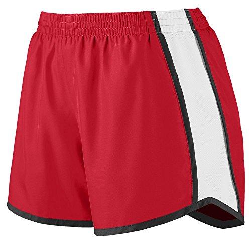 (Augusta Sportswear Womens Junior Fit Pulse Team Short, Red/White/Black, Small)