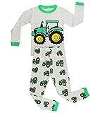 Elowel Boys Tractor 2 pc pajamas Set Size 4,Gray