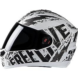 Steelbird SBA-1 Free Live Matt White with Grey with Smoke visor,580mm
