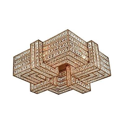 Elk Lighting 11122/4 Close-to-Ceiling fixtures, Gold