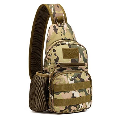cinmaul Crossbody pecho bolsa resistente Carrier táctica deporte supervivencia Militar Juego de caza, senderismo y ciclismo, hombre, camouflage CP Camouflage