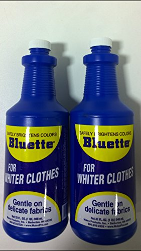 Bluette Concentrated Liquid Laundry Bluing - Whitening and Brightening Agent - 32 oz - Pack of 2
