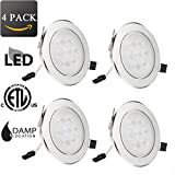 [Pack of 4]7W LED Recessed Downlight Light 3000K Warm White 4-inch Ceiling Light Fixture AC 85-265V