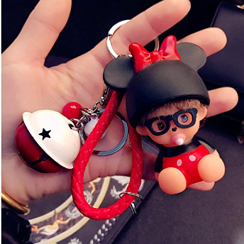 Doll Cartoon Key Ring Bag Charms With