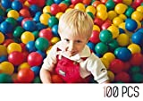 My Plastic Balls | 200 Non Toxic Fun Kid Toy Balls with 7 Bright Colors and Zippered Mesh Bag | 491