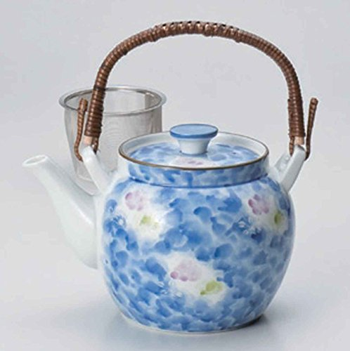 Two Colors-Tokusa 1250cc Set of 2 Japanese Teapots White porcelain Made in Japan