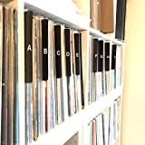 A to Z Black Vertical Vinyl Record Dividers w/Lettering on Both Sides 12-inch LP Tab Professional Index Album Organizers/Organization A-Z Alphabet Alphabetize Alphabetical Cards