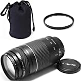 Canon EF 75-300mm f/4-5.6 III Telephoto Zoom ZeeTech Premium Lens Bundle + High Definition U.V. Filter + Deluxe Pouch for Canon Digital SLR Cameras