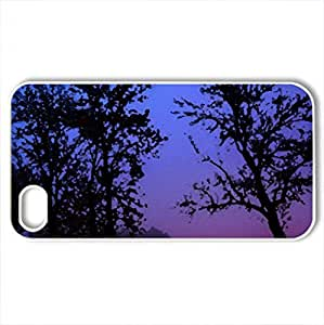beautiful winter evening - Case Cover for iPhone 4 and 4s (Winter Series, Watercolor style, White)
