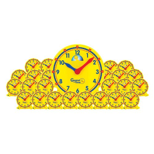 EAI Education Geared for Time Clock: Classroom Kit - 1 Demonstration and 24 Student Clocks