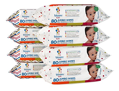 bloom BABY Sensitive Skin Unscented Hypoallergenic Baby Wipes, 640-Count from bloom +KIND