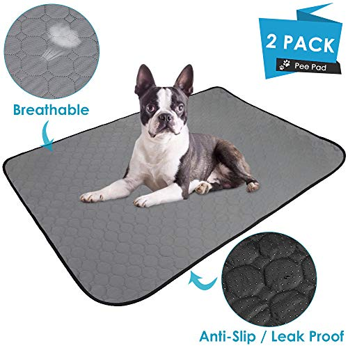 AutoWT Washable Dog Pee Pads, Waterproof Reusable Puppy Pad Unscented Super Absorbent Pet Mat Puppy Cats Housebreaking…