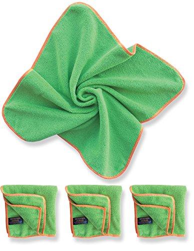 Antibacterial Microfiber Towels 4pk SilverClear product image